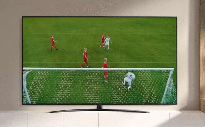 Tivi LG 55UP7720 xem thể thao như ngoài sân vận động