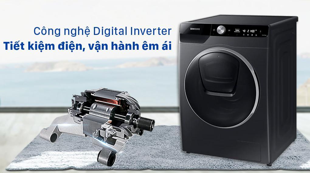 Máy giặt Samsung này được trang bị động cơ Digital Inverter tiết kiệm điện hiệu quả