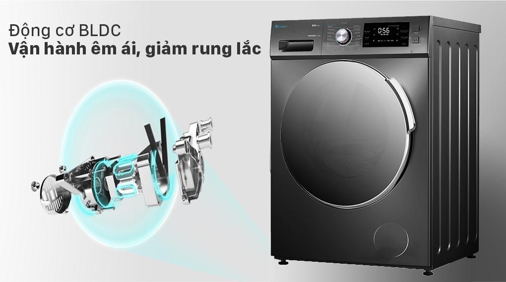 Đánh giá động cơ của máy giặt Casper WF-105I150BGB có mạnh mẽ không ? vận hành có êm không?