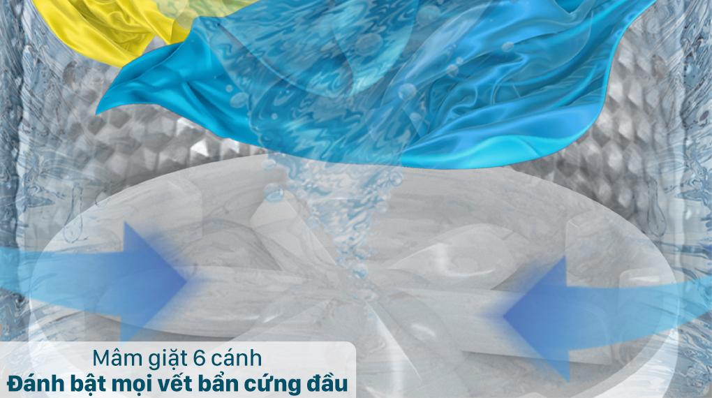 Đánh giá khả năng thiết kế mâm giặt 6 cánh mơi trên Máy giặt Casper WT-85N68BGA