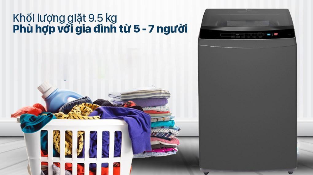 đánh giá Máy giặt Casper Inverter 9.5 kg WT-95I68DGA