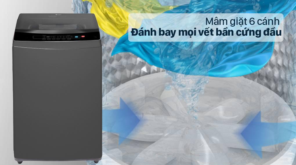 Đánh giá máy giặt Casper WT-95N68BGA khả năng giặt sạch của mâm giặt