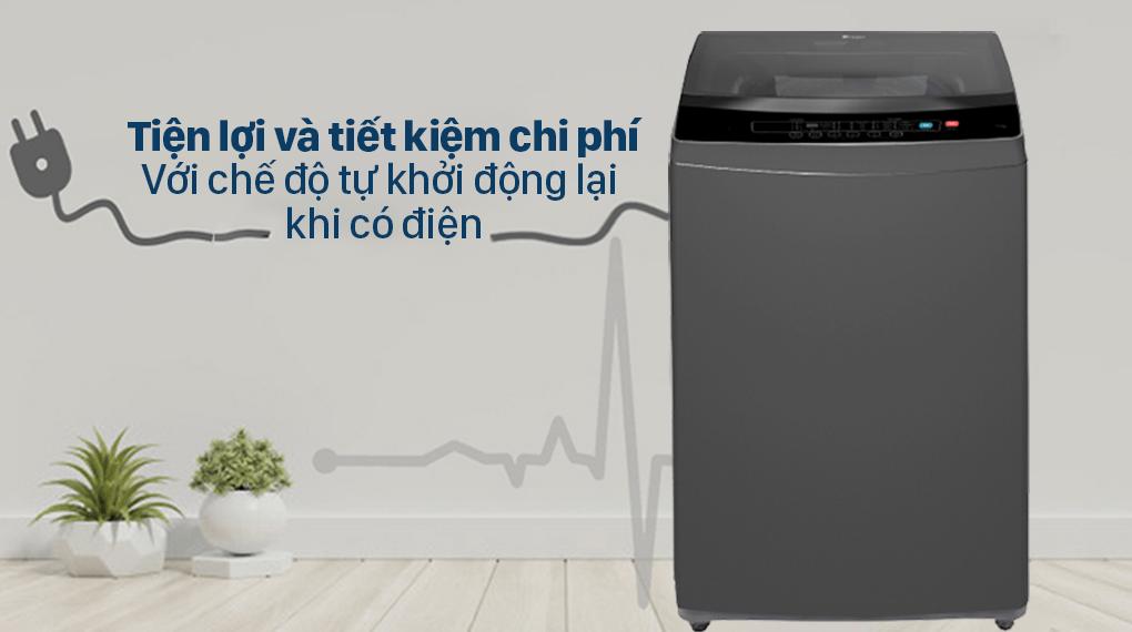 Đánh giá khả năng máy giặt Casper WT-95N68BGA hoạt động trở lại khi có điện