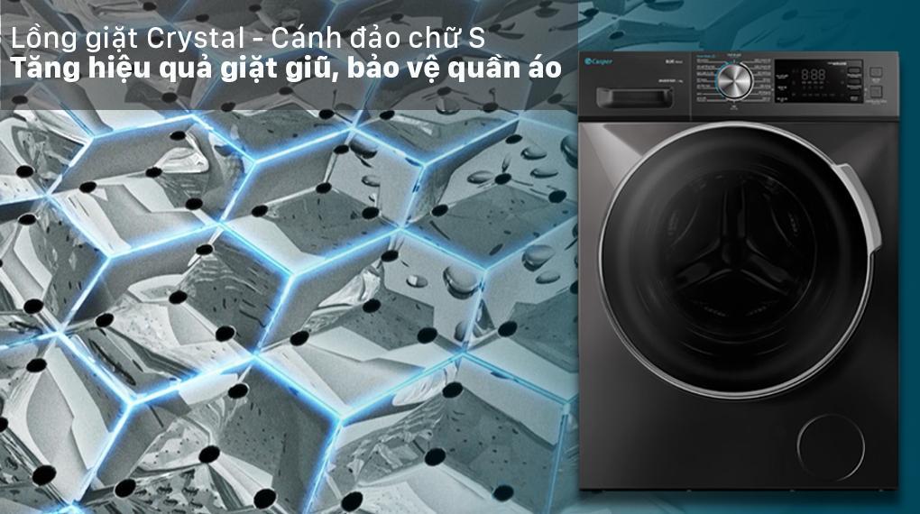 Đánh giá Máy giặt Casper WF-125I140BGB về hiệu quả giặt sạch bởi những thiết kế mới của lồng giặt
