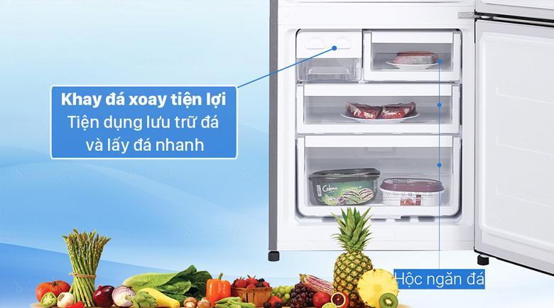 Tủ lạnh Electrolux EBB3442K-H trang bị hộp đá xoay tiện dụng dễ dàng sử dụng