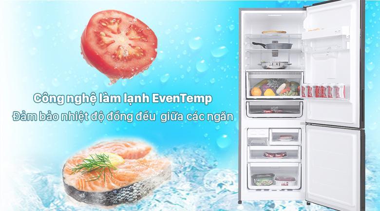 Duy trì độ lạnh ổn định và tỏa đều hơi lạnh trong mỗi ngăn chứa nhờ công nghệ EvenTemp
