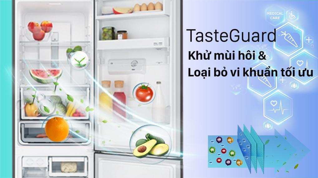 Công nghệ TasteGuard của Tủ lạnh Electrolux EBB3462K-H giúp bạn khử mùi hôi hiệu quả, loại bỏ vi khuẩn tối đa