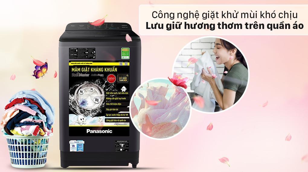 Máy giặt Panasonic NA-F100A9BRV giúp bạn lưu giữ hương thơm trên quần áo lâu hơn