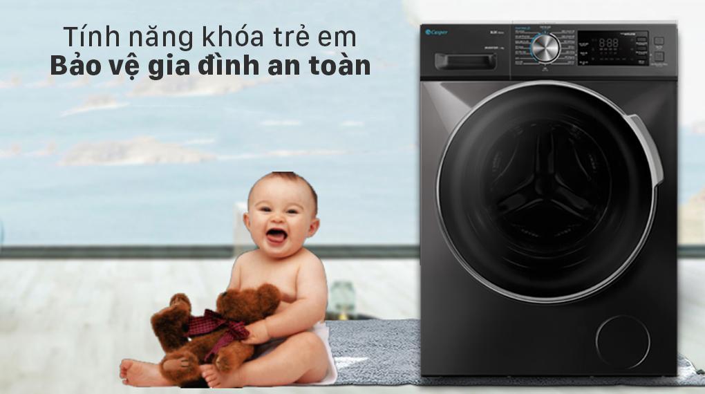 Đánh giá khả năng bảo vệ an toàn và khoá trẻ em của máy giặt Casper WF-125I140BGB