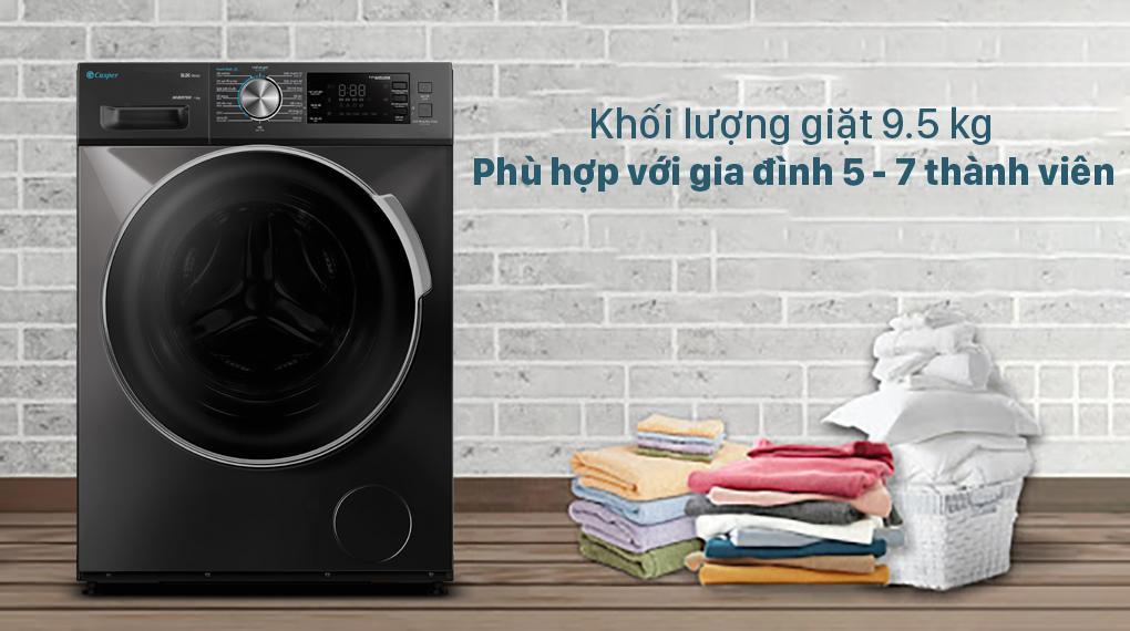 Đánh giá về khối lượng đồ giặt có thể giặt trong mỗi lần giặt