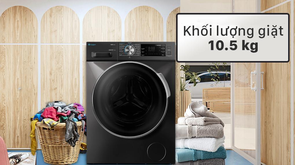 Đánh giá khối lượng giặt của máy giặt Casper WF-105I150BGB