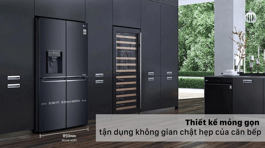 thiết kế mỏng gọn tận dụng không gian chật hẹp của căn bếp