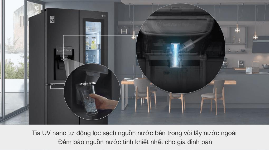 GR-X22MB tia UV nano tự động lọc sạch nguồn nước bên trong vòi lấy nước ngoài