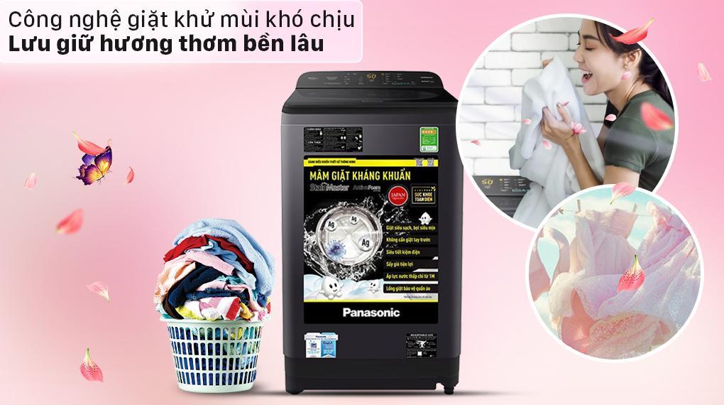 Máy giặt Panasonic NA-F90A9BRV sẽ lưu giữ hương thơm bền lâu hơn những mẫu máy giặt trước đây