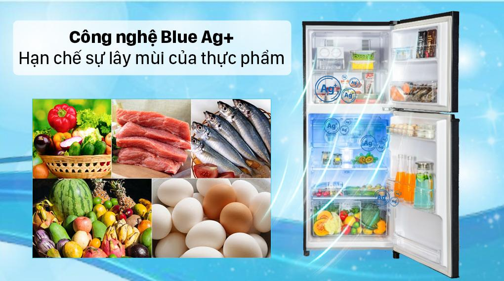 Tủ lạnh Panasonic NR-TL351GPKV giúp bạn hạn chế sự lây mùi nhờ công nghệ Blue Ag+ giúp tủ không bị lẫn mùi