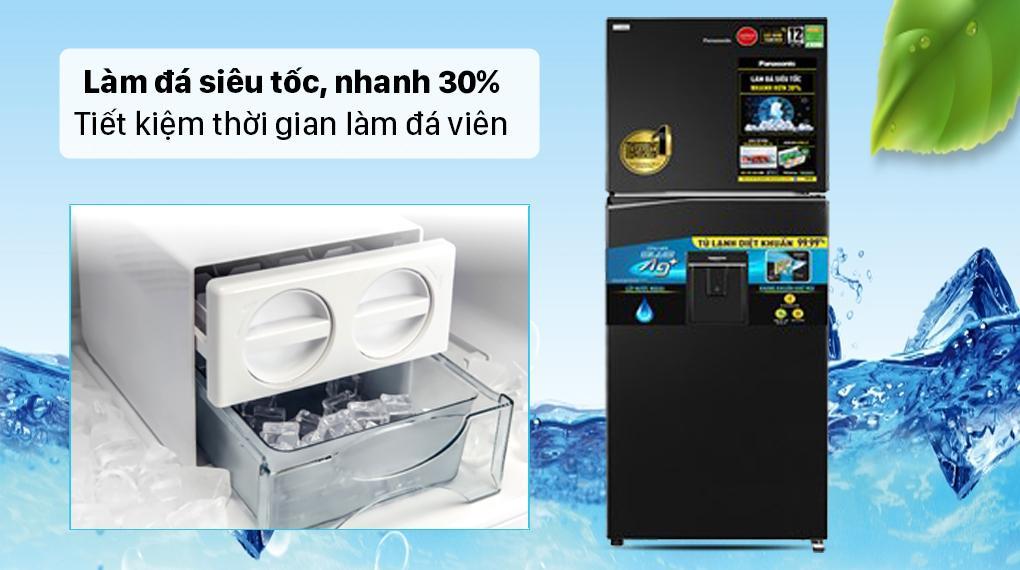 Tủ lạnh Panasonic NR-TL351GPKV giúp bạn làm đá siêu tốc, nhanh hơn tới 30%
