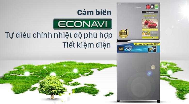 Tủ lạnh Panasonic NR-TV261APSV cảm biến thông minh Econavi tự điều chỉnh nhiệt độ phù hợp