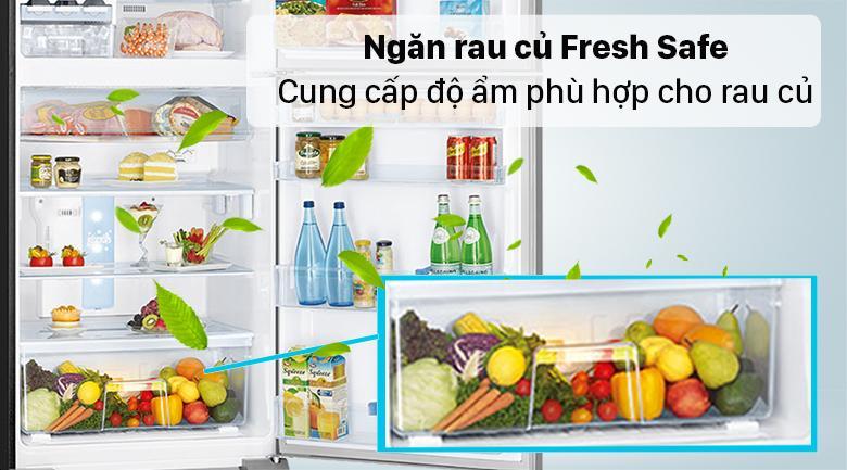 Sản phẩm sở hữu ngăn rau củ Fresh Safe có thể cung cấp độ ẩm đều và ổn định cho rau quả luôn tươi ngon