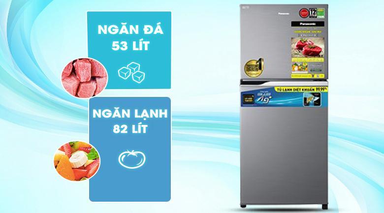 Tủ lạnh Panasonic NR-TV261APSV được thiết kế có dung tích sử dụng 234 lítphù hợp cho gia đình từ 2 -3 người
