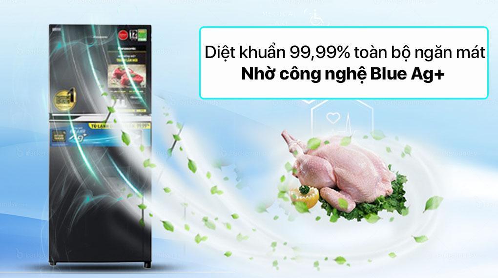 Tủ lạnh Panasonic NR-TV261BPKV với công nghệ Blue Ag+ diệt khuẩn hiệu quả đến 99.99%