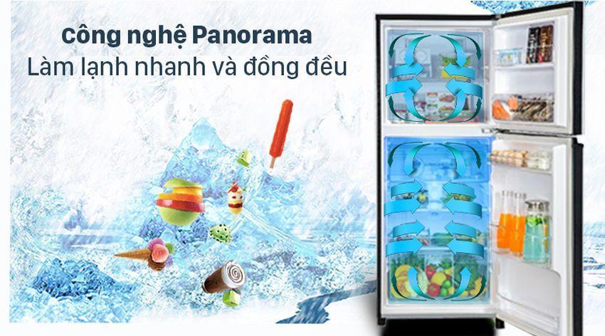 Tủ lạnh Panasonic NR-TV301VGMV sẽ làm lạnh đồng đều và hiệu quả hơn nhờ công nghệ Panorama