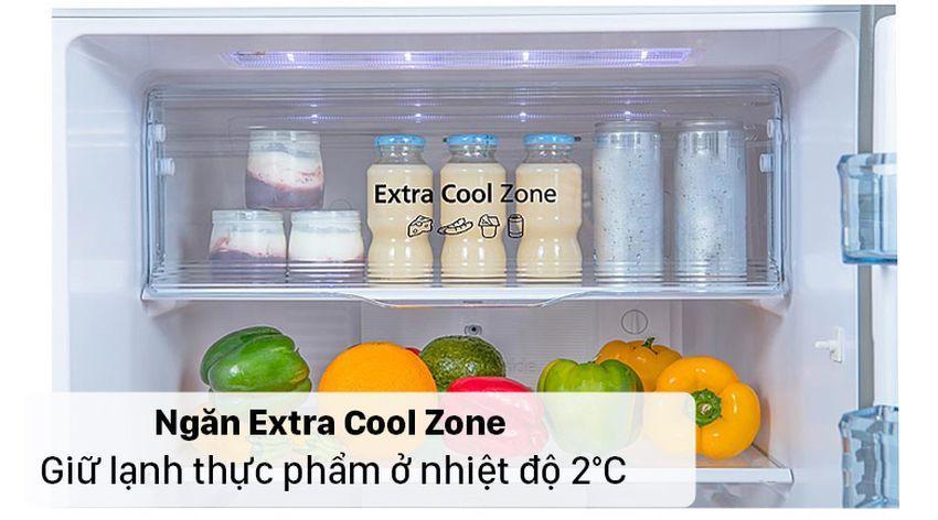 Tủ lạnh Panasonic NR-TV301VGMV có thể giữ lạnh thực phẩm ở nhiệt độ 2°C với ngăn Extra Cool Zone