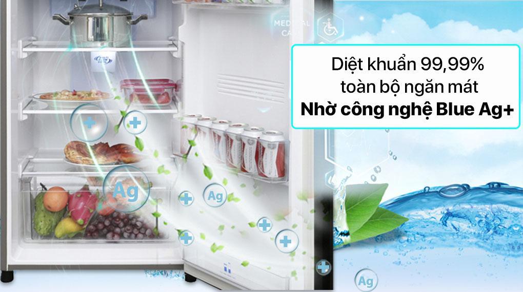 Tủ lạnh Panasonic NR-TV341VGMV diệt khuẩn hiệu quả lên đến 99,99% nhờ công nghệ Blue Ag+