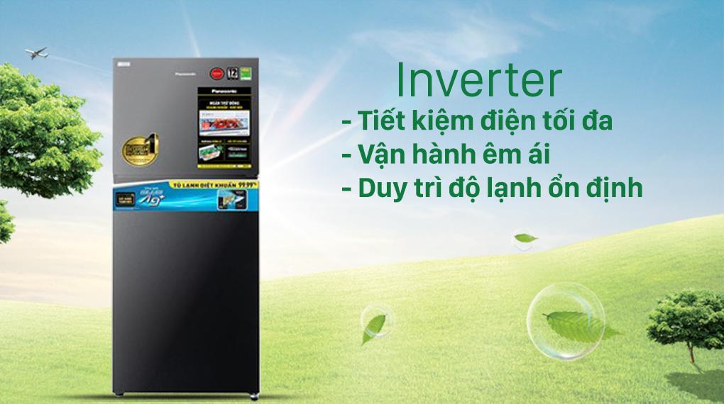 Tủ lạnh Panasonic NR-TV341VGMV với công nghệ Inverter và cảm biến Econavi giúp tiết kiệm và hoạt động rất êm ái