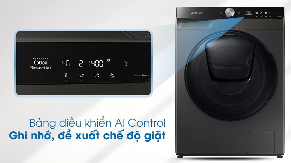Máy giặt sấy Samsung WD95T754DBX/SV với bảng điều khiển thông minh AI Control ghi nhớ chương trình giặt tự đông