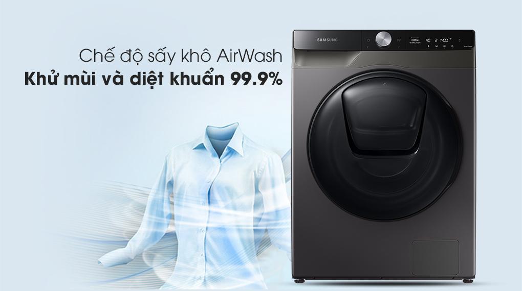 Máy giặt sấy Samsung WD95T754DBX/SV Addwash Inverter 9.5kg có chế độ sấy khô AirWash khử mùi và diệt khuẩn đến 99.9%