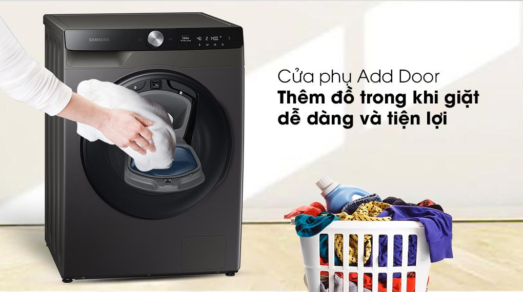 Máy giặt sấy Samsung WD95T754DBX/SV Addwash Inverter 9.5kg trang bị cửa phụ Add Door dễ dàng thêm đồ ngay cả khi máy đang giặt