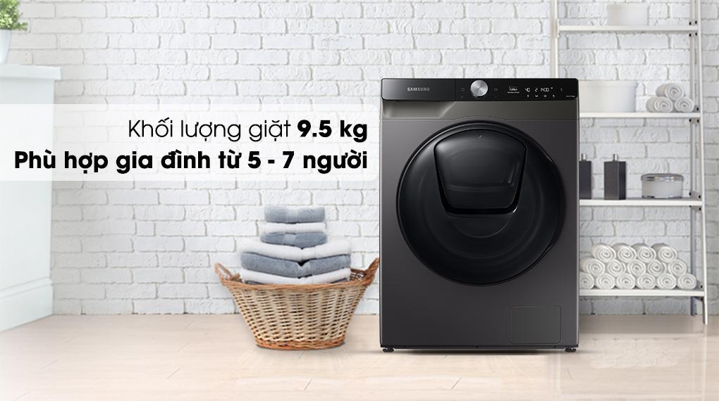 Máy giặt sấy Samsung Addwash có Khối lượng giặt 9.5 kg có thể phù hợp với rất nhiều hộ gia đình