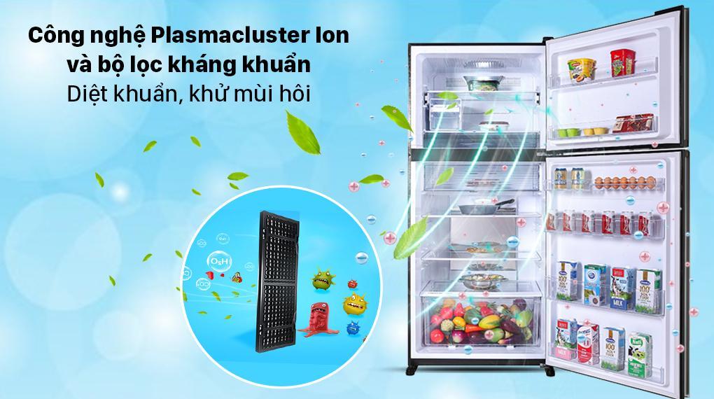 Tủ lạnh Sharp SJ-XP620PG-BK sở hữu công nghệ Plasmacluster Ion độc quyền giúp khử mùi và diệt khuẩn nhanh chóng, hiệu quả