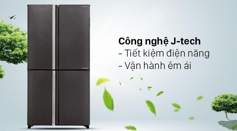 Công nghệ J-tech hiện đại nhất giúp bạn tiết kiệm điện năng và vận hành êm hơn
