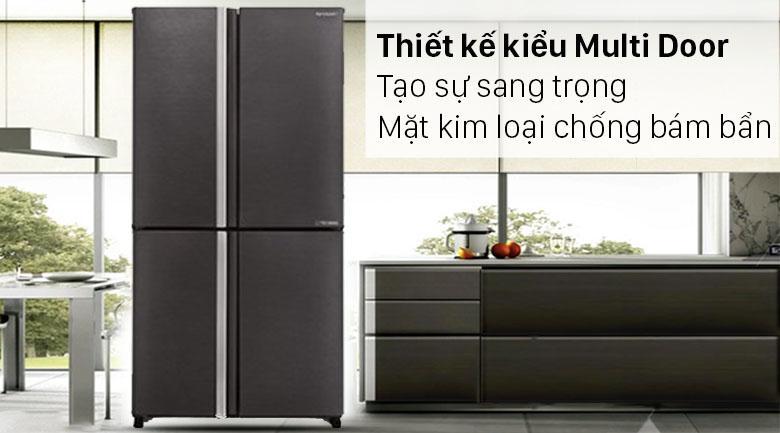 Tủ lạnh Sharp SJ-FX640V-SL là kiểu tủ lạnh Multi Door sang trọng, mặt kim loại chống bám bẩn hiệu quả hơn
