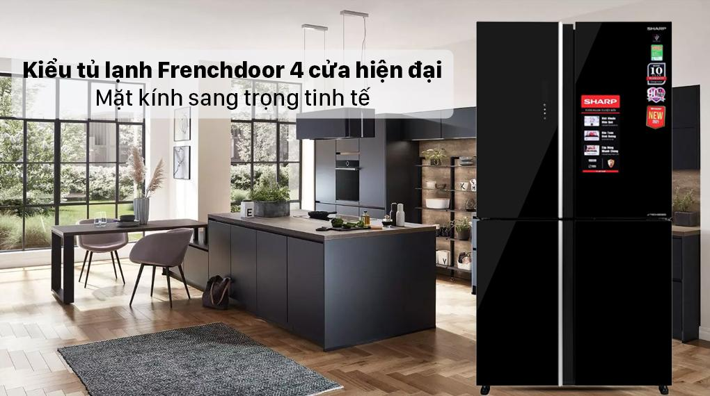 Tủ lạnh Sharp SJ-FXP600VG-BK chính là sản phẩm tủ lạnh Frenchdoor 4 cửa hiện đại cùng mặt kính sang trọng, tinh tế