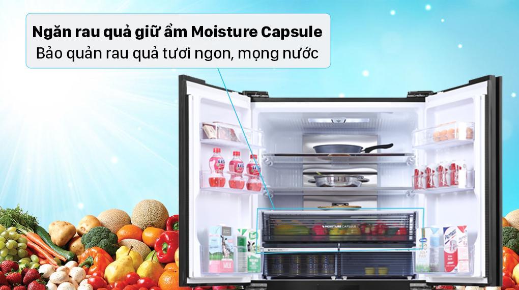 Giờ đây bạn sẽ kéo dài thời gian bảo quản rau củ hơn với chiếc Tủ lạnh Sharp SJ-FXP600VG-BK này