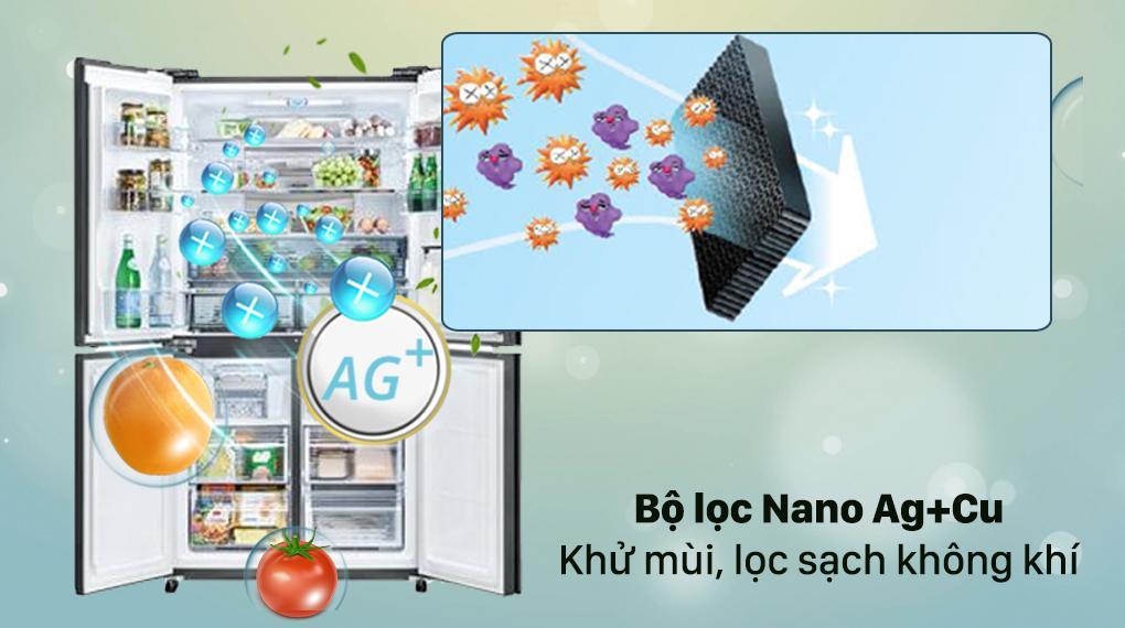Tủ lạnh Sharp SJ-FXP600VG-MR với công nghệ Plasmacluster Ion giúp bạn khử mùi hiệu quả và chống vi khuẩn tốt
