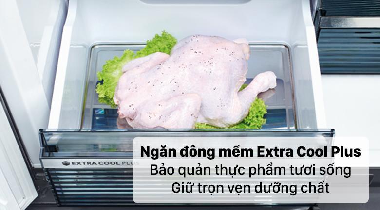 Tủ lạnh Sharp SJ-FXP640VG-BK có ngăn đông mềm -1.5 độ C (Extra cool plus) giữ thực phẩm tươi ngon