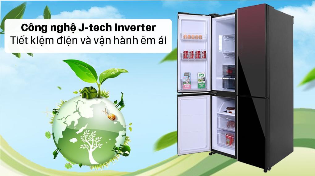 Tủ lạnh Sharp SJ-FXP640VG-MR trang bị công nghệ J-tech Inverter tiết kiệm điện một cách tối đa