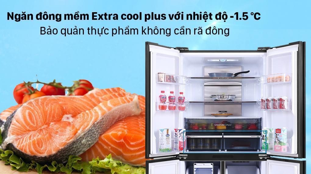 Sản phẩm có ngăn đông mềm Extra Cool Plus bảo quản thực phẩm mà không phải làm đông