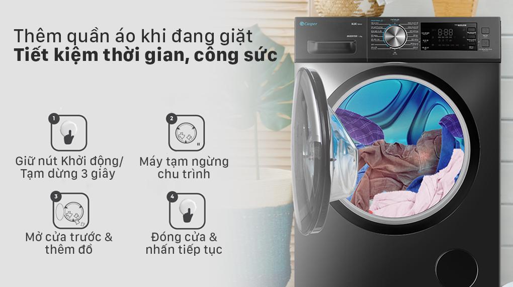 Review chức năng thêm đồ khi giặt của máy giặt Casper WF-125I140BGB