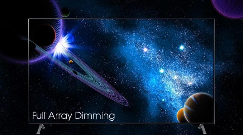 tăng cường độ sáng tối của hình ảnh với LED Full Array Dimming