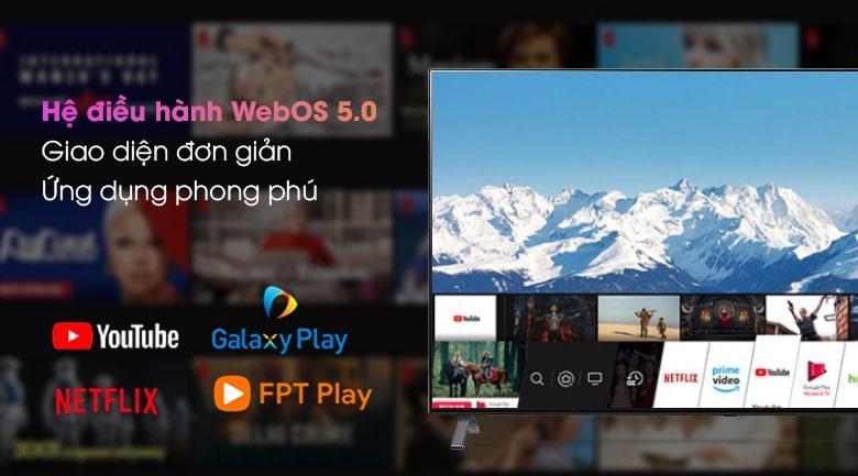 Tivi LG 75NANO95TNA hệ điều hành WebOS 5.0