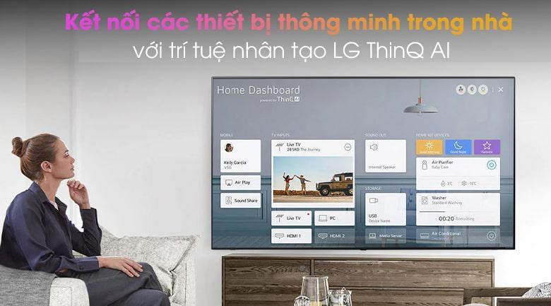 Tivi LG 75NANO95TNA kết nối các thiết bị thông minh trong nhà