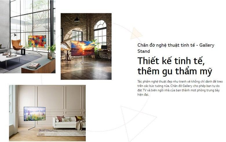 thiết kế tinh tế với chân đớ nghệ thuật tinh tế-gallery Stand