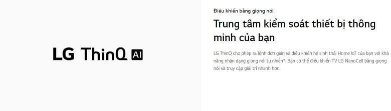 Tivi LG 55NANO80TPA trung tâm kiểm soát thiết bị thông minh