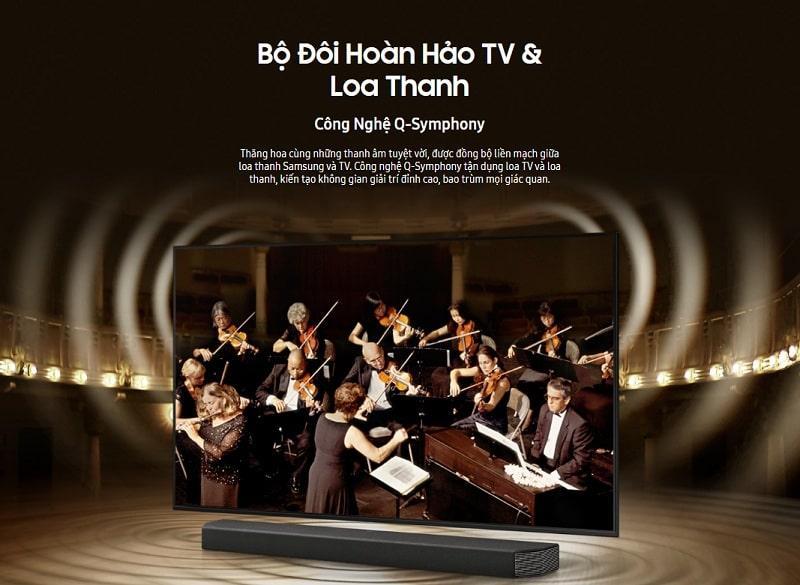 43AU8000 bộ đôi hoàn hảo TV và loa thanh