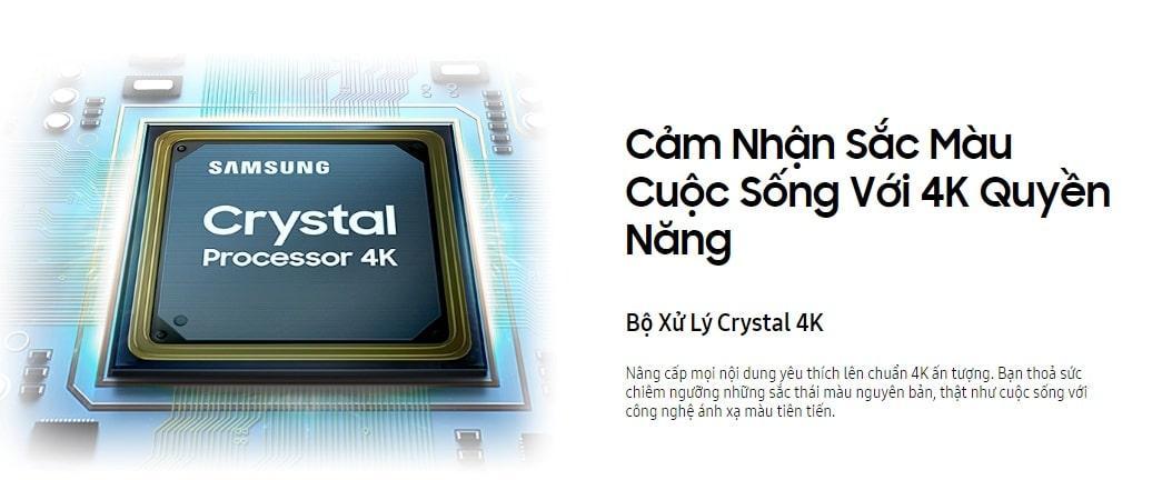 cảm nhận sắc màu thực tế với chip xử lý crystal processor 4K
