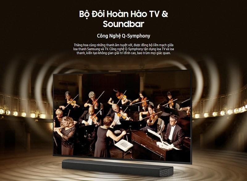 Tivi Samsung 55AU7700 bộ đôi hoàn hảo TV và soundbar